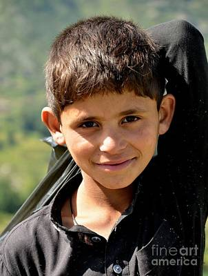 Poster featuring the photograph Smiling Boy In The Swat Valley - Pakistan by Imran Ahmed