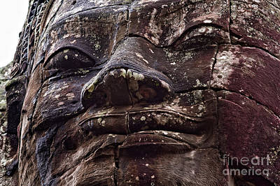 Smiling Faces Of Bayon Poster by Joerg Lingnau