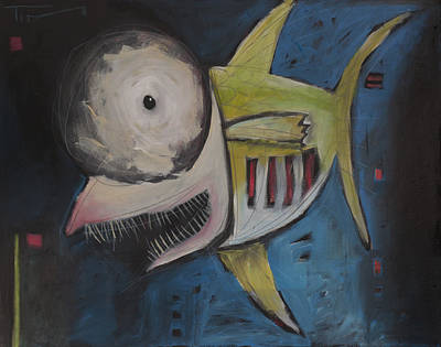 Smiling Fish Poster by Tim Nyberg