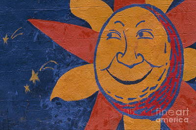 Smiling Sun Poster by Chris Selby
