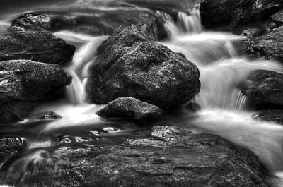 Smith Creek In Black And White Poster by Greg Mimbs