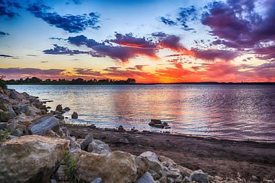 Smithville Lake Sunset Poster by Sennie Pierson