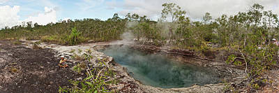 Smoke Erupting From A Hot Spring Poster by Panoramic Images