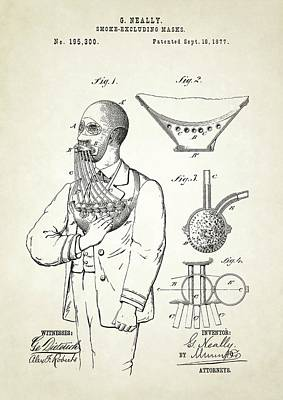 Smoke Excluding Mask Patent Poster
