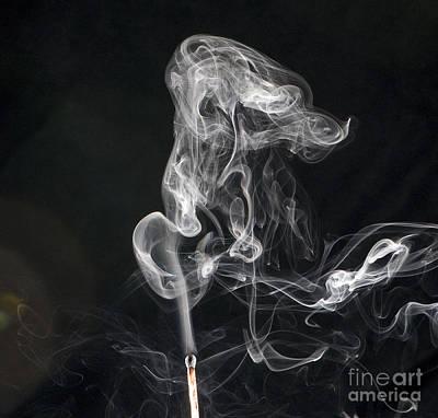 Smoke From A Match Poster by Scott Camazine