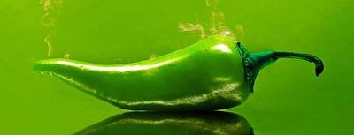 Aaron Berg Photography Poster featuring the photograph Smoke'n Hot Green Pepper  by Aaron Berg