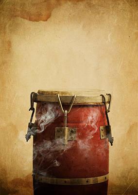 Smoking Congas Poster by Roberto Adrian