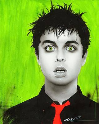 Billie Joe Armstrong - ' Smoking My Inspirationnnn ' Poster by Christian Chapman Art