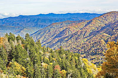 Smoky Mountain Autumn Vista Poster