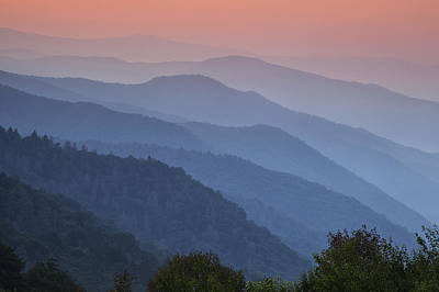 Smoky Mountain Morning Poster by Andrew Soundarajan