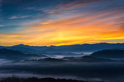 Smoky Mountain Sunrise 1 Poster