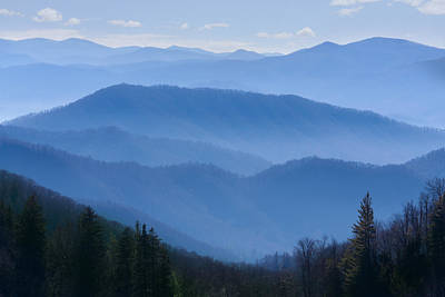 Smoky Mountains Poster by Melinda Fawver