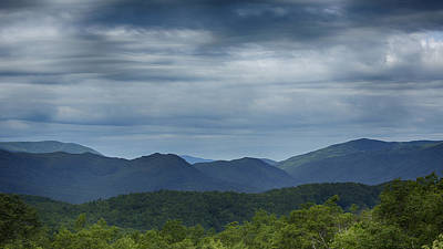 Smoky Mountains Morning Clouds Poster by Stephen Stookey