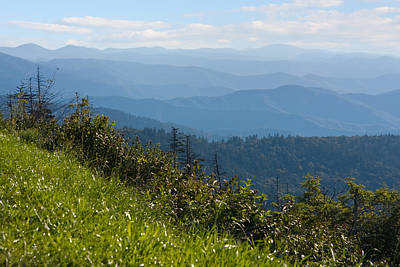 Smoky Mountains View Poster by Melinda Fawver