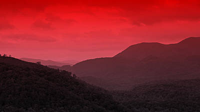 Smoky Mountians Red Poster by Stephen Stookey
