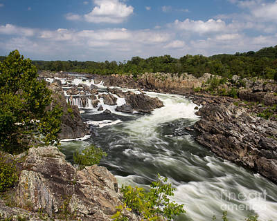 Poster featuring the photograph Smooth Flow At Great Falls  by Dale Nelson