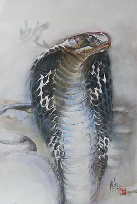 Poster featuring the painting Snake by Alan Kirkland-Roath