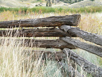 Poster featuring the photograph Snake Fence And Sage Brush by Ann E Robson
