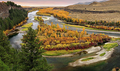 Snake River Autumn Poster by Leland D Howard