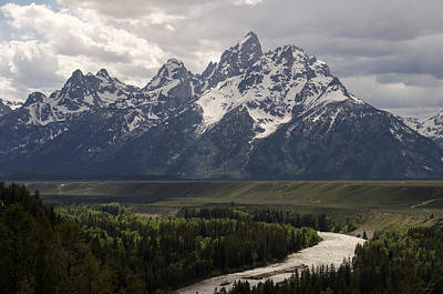 Snake River Overlook - Tetons Poster by Aaron Spong