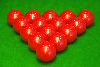 Snooker Balls Poster by Guang Ho Zhu