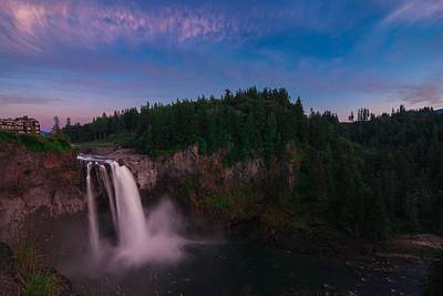 Snoqualmie Falls Poster by Gene Garnace