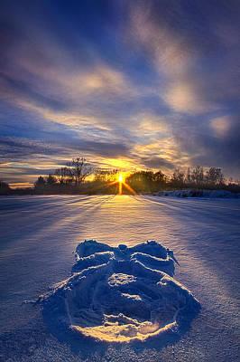 Snow Angel Poster by Phil Koch