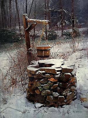 Snow At Twilight Poster by RC deWinter