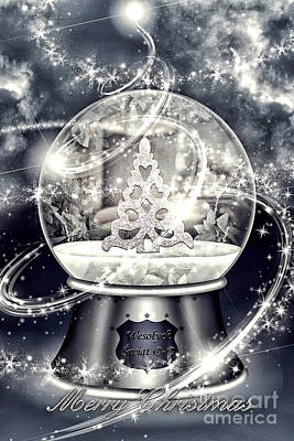 Snow Ball Poster by Mo T
