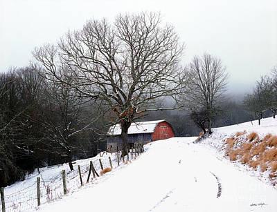 Snow Barn Red Door 2007 Poster
