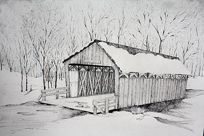 Snow Bridge 2012  Poster by Tammie Temple