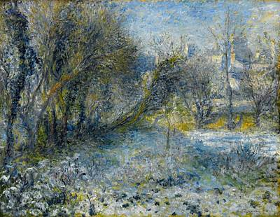 Snow-covered Landscape Poster by Pierre-Auguste Renoir