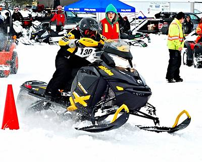 Snow Drags - 9 Poster by Don Mann