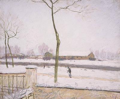 Snow Effect Effet De Neige Pastel On Paper C. 1880-1885 Poster