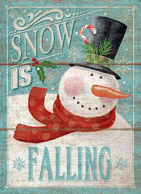 Snow Is Falling Poster by P.s. Art Studios
