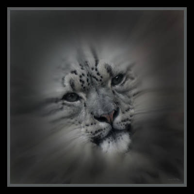 Snow Leopard 18 Poster by Ernie Echols