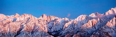 Snow Mt Whitney Ca Usa Poster by Panoramic Images