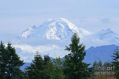Snow On Mount Baker Poster