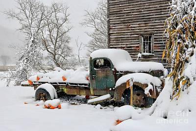 Snow On The Pumpkin Harvest Poster