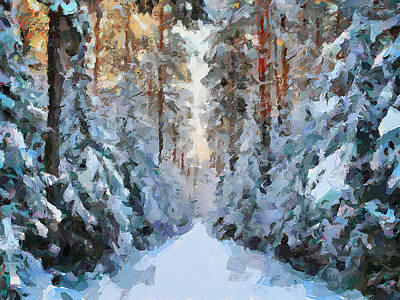 Snow Path Poster by Yury Malkov