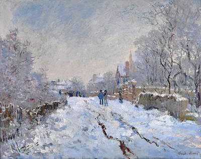 Snow Scene At Argenteuil Poster