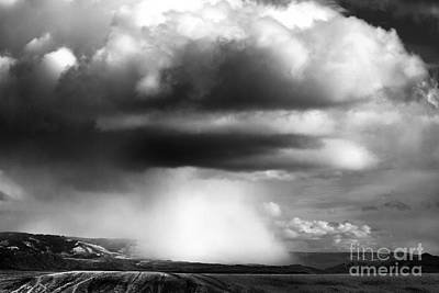 Snow Squall In Black And White Poster