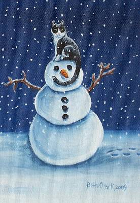 Snow Stormie Poster by Beth Clark-McDonal