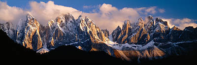 Snowcapped Mountain Peaks, Dolomites Poster