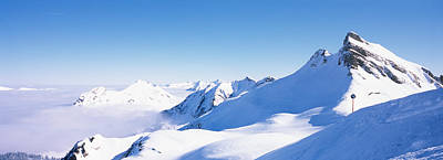 Snowcapped Mountain Range, Damuls Poster