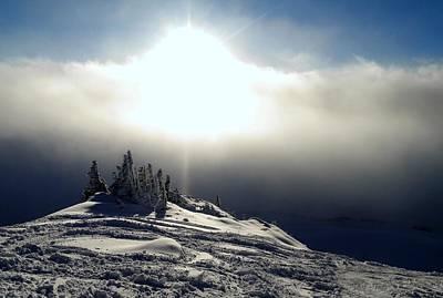 Snowcloud Sunburst Poster by Peter Mooyman