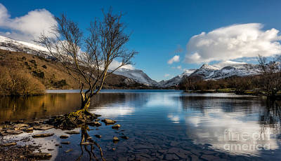 Snowdon And Padarn Lake Poster by Adrian Evans
