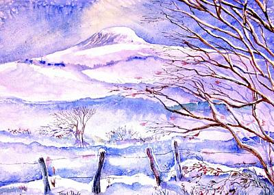 Snowfall On Eagle Hill Hacketstown Ireland  Poster by Trudi Doyle