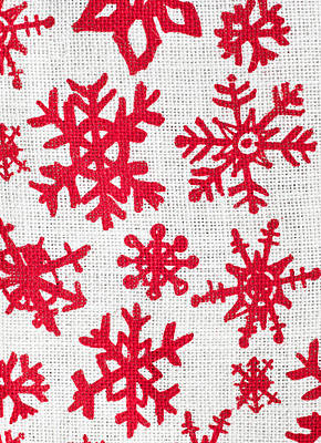 Snowflake Pattern Poster by Tom Gowanlock