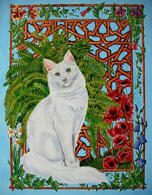 Poster featuring the painting Snowi's Garden by Leena Pekkalainen